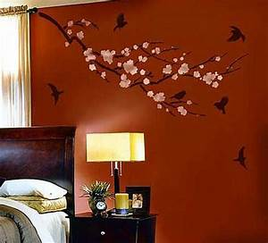 decorative wall painting ideas for bedroom With full design for room wall