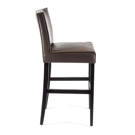 tabouret de bar en vinyl et bois barcarpe 4 pieds tables chaises et tabourets
