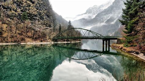nature landscape bridge river mountain wallpapers hd