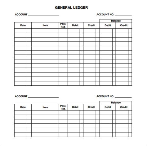 sample general ledger
