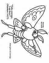 Coloring Moth Vbs Cave Quest Preschool Crafts Colouring Template Bible Church Children Shipwrecked Visitar Printable sketch template