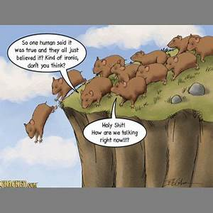 Lemmings do not commit mass suicide by following each ...