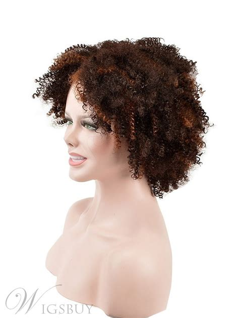 top quality short kinky curly capless synthetic hair wig  inches wigsbuycom