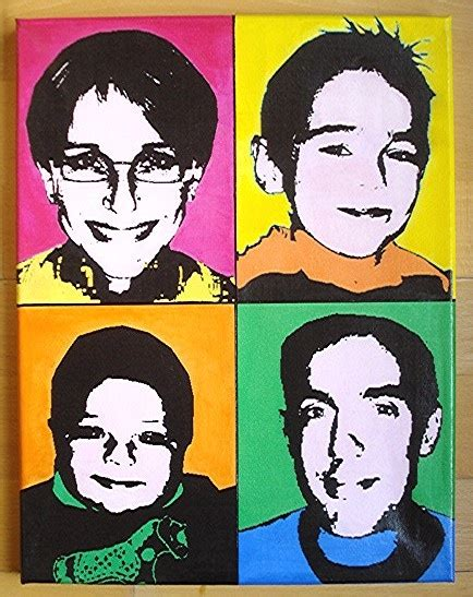 tableau photo pop personnalis 233 style quot andy warhol quot mes cr 233 ations coralie74500 photos