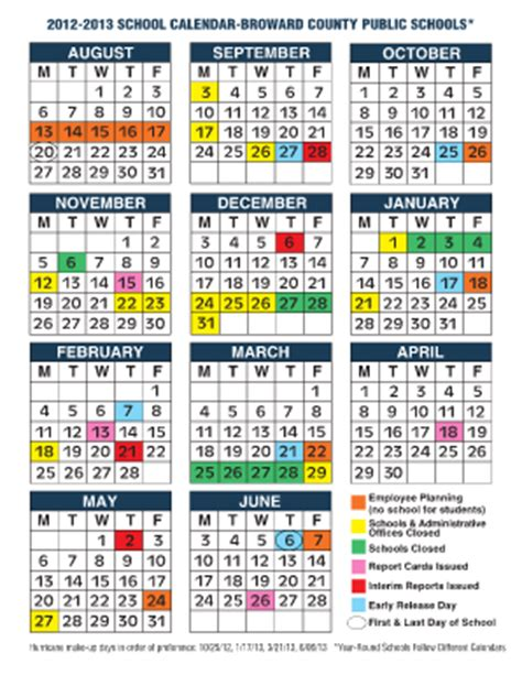 broward school calendar car update