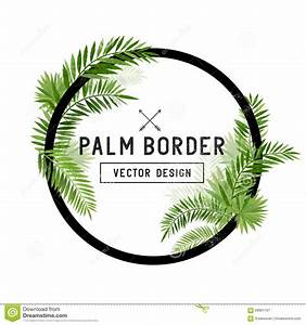 Tropical Palm Leaf Border Vector Stock Vector - Image ...