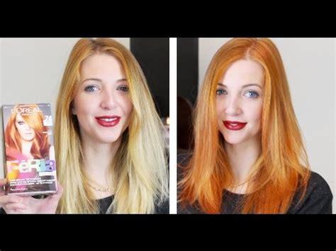 blonde  ginger  loreal feria youtube