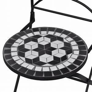Bistrotisch Mit 2 Stühlen : der mosaik bistrotisch 60 cm mit 2 st hlen schwarz wei ~ Michelbontemps.com Haus und Dekorationen