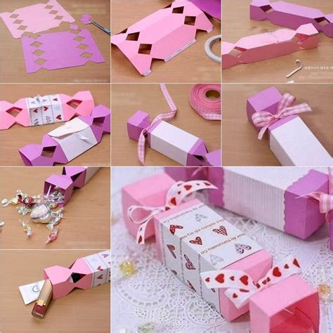 diy candy shaped gift box