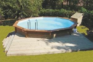 piscines semi enterrees albums photos With marvelous terrasse piscine semi enterree 12 piscines bois petite piscine hors sol enterree
