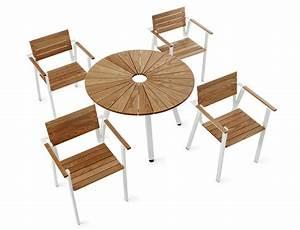 Table De Jardin Ronde : table de jardin ronde avec trou central sunset by nola ~ Teatrodelosmanantiales.com Idées de Décoration