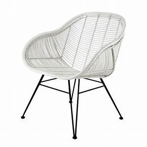 Fauteuil Rotin Maison Du Monde : fauteuil en rotin blanc pitaya maisons du monde ~ Teatrodelosmanantiales.com Idées de Décoration