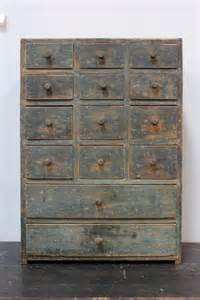 Blue Antique Apothecary Cabinet