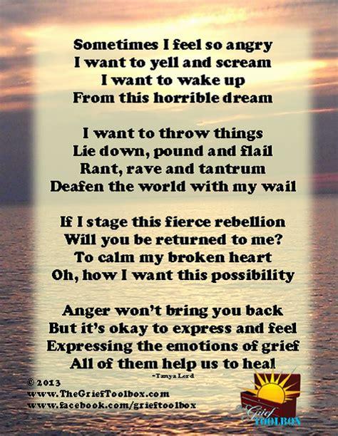 feel anger  grief  poem  grief toolbox
