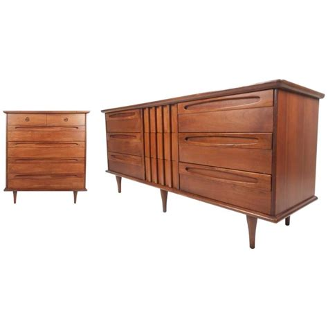 unique mid century modern bedroom set by american of