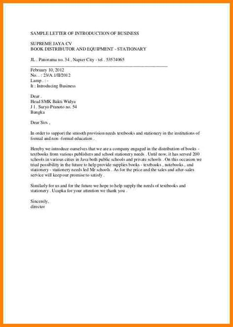 write business introduction letter