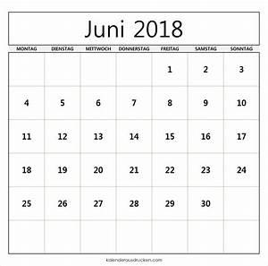 Kalender Juni 2017 Zum Ausdrucken : kalender 2018 vorlage drucken kalentri 2018 ~ Whattoseeinmadrid.com Haus und Dekorationen