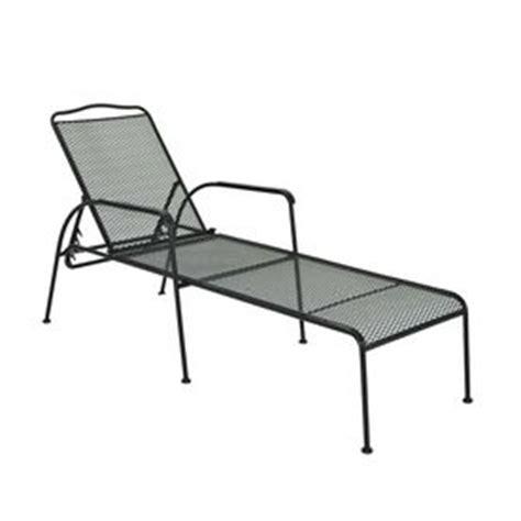 Garden Treasures Davenport Patio Furniture garden treasures davenport mesh seat steel patio chaise