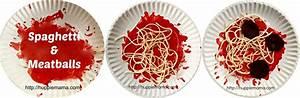 spaghetti & meatballs craft - Our Potluck Family