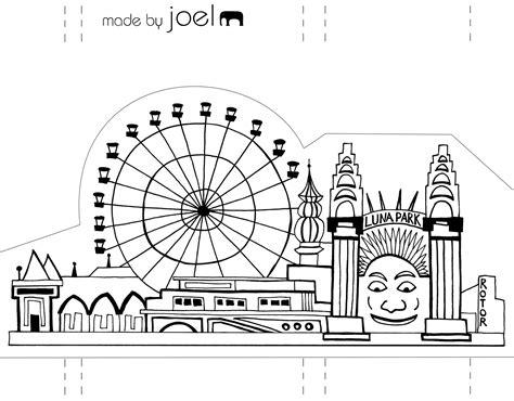 template   joel paper city sydney luna park   joel