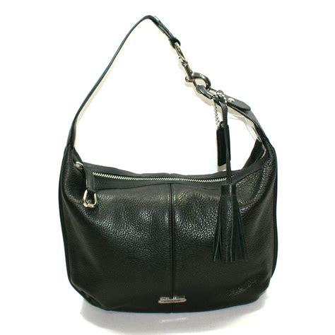 coach avery leather small hobo bag black  coach