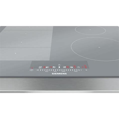 siemens ex679fec1e iq700 60cm induction hob silver glass appliances direct