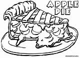Pie Coloring Apple Pages Print Colorings Food Popular sketch template