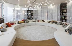 Sofa Runde Form : runde sofas 23 interessante designs ~ Lateststills.com Haus und Dekorationen
