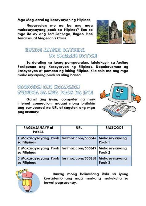 home based activity grade   araling panlipunan