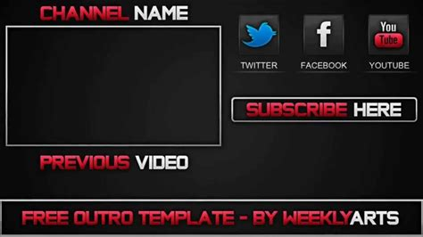 video template foto top 3 outros editables youtube