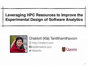 Leveraging HPC Resources to Improve the Experimental ...