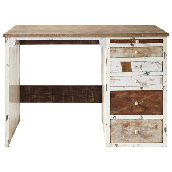 bureaux en bois bureau en bois recyclé l 112 cm arcachon maisons du monde