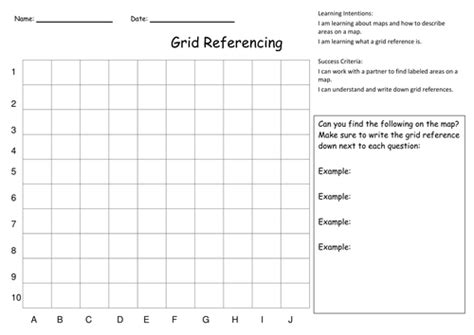 grid referencing and map skills activities by kristopherc