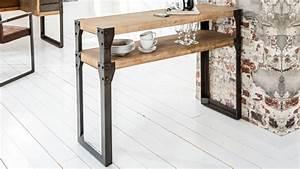 Console Bois Metal Industriel : console style industriel moderne design bois et m tal jorg ~ Teatrodelosmanantiales.com Idées de Décoration