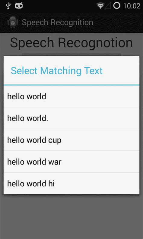 android speech recognition