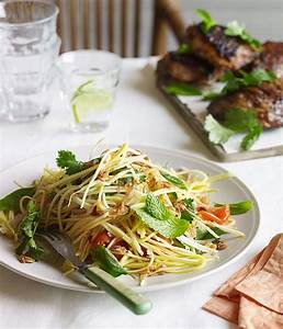Barbecued lemongrass chicken with green mango salad recipe ...