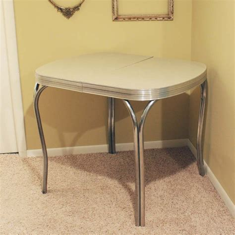 vintage kitchen table formica vintage kitchen dinette table formica top gray by