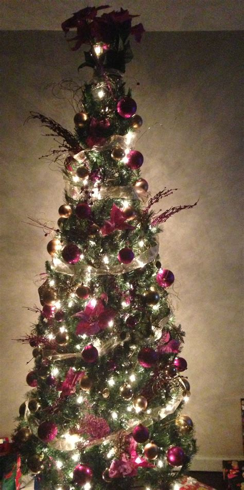 7 foot slim christmas tree christine pinterest