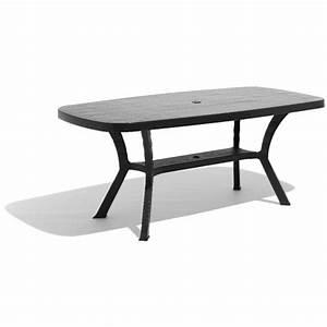 Table 16 Personnes : table de jardin rectangulaire 6 personnes gris table chaise salon de jardin mobilier de ~ Teatrodelosmanantiales.com Idées de Décoration