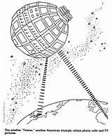 Coloring Satellite Telstar History Raisingourkids Timeline Printable Drawings States Printing United Satellites sketch template