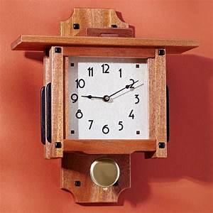 Greene greene wall clock woodworking plan from wood magazine for Wood wall clock plans