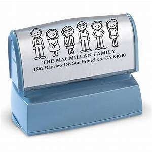 our family self inking large stamper current catalog With current address stamp