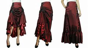 Viktorianischer Stil Kleidung : 3 way long skirt can be worn down for victorian styling up on one side for gypsy styling or ~ Watch28wear.com Haus und Dekorationen