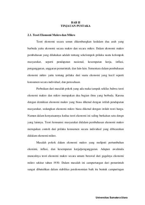 Teori Ekkonomi Makro dan Ekonomi Mikro