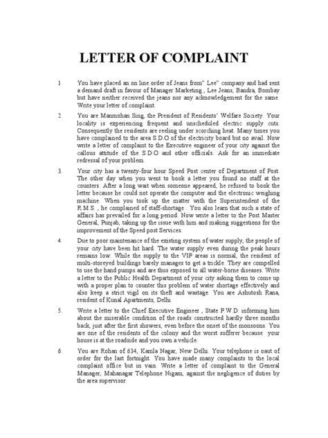 letter  complaint delhi newspaper  magazine