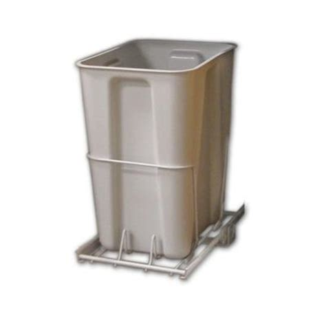 Cabinet Trash Can Home Depot by Closetmaid 6 Gal White Pull Out Trash Can 3103 The Home