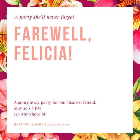 customize  farewell party invitation templates