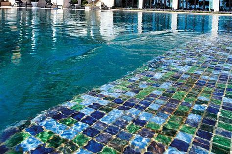 pool mosaic tiles glass mosaic tiles make a big splash in pool design