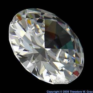Gem Cut Zirconium Oxide Cubic  A Sample Of The Element