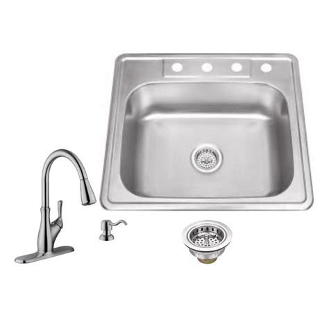 brushed stainless steel kitchen sinks ipt sink company drop in 25 in 4 stainless steel 7974